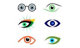 Stellen Sie vom Auge ein, Optik, Visionslogovektor vektor abbildung