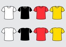 Stellen Sie vom bunten T-Shirt ein Auch im corel abgehobenen Betrag stock abbildung