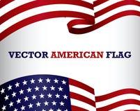 Stellen Sie vom Clipart der amerikanischen Flagge ein stock abbildung
