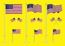 Stellen Sie vom Clipart der amerikanischen Flagge ein r vektor abbildung