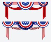 Stellen Sie vom Dekorationsclipart der amerikanischen Flagge ein vektor abbildung