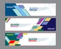 Stellen Sie vom Fahnenentwurf, für Netzfahne, Broschüre, fyler, Bucheinband und anderen Konzeptdruckentwurf ein vektor abbildung