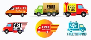 Stellen Sie vom Fahrzeugkostenlosen versand oder -Vorleistung ein lizenzfreie abbildung