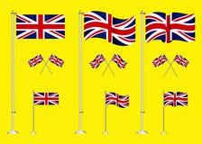 Stellen Sie vom Flaggenclipart Vereinigten Königreichs ein vektor abbildung