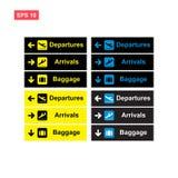 Stellen Sie vom Flughafenzeichen-Vektorentwurf lokalisiert ein lizenzfreie abbildung