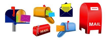 Stellen Sie vom klassischen Briefkasten und vom Umschlag ein lizenzfreie abbildung