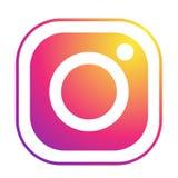 Stellen Sie vom popul?ren Social Media-Logoikonen Instagram-Elementvektor auf wei?em Hintergrund ein in den Illustrationen ai10 vektor abbildung