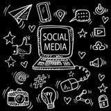 Stellen Sie vom Social Media kritzeln ein lizenzfreie abbildung