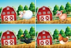 Stellen Sie vom Tier am Bauernhof ein lizenzfreie abbildung