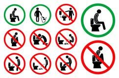 Stellen Sie vom Toilettenhygienezeichen ein r lizenzfreie abbildung
