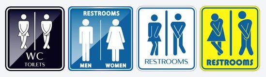 Stellen Sie vom Toilettenplakatzeichen ein r stock abbildung