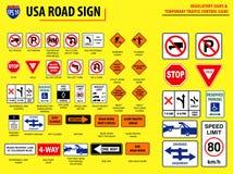 Stellen Sie vom USA-Verkehrsschild ein stock abbildung