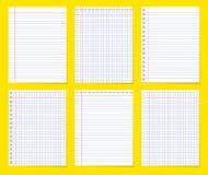 Stellen Sie vom verschiedenen leeren leeren Papier ein r vektor abbildung
