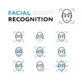 Stellen Sie vom Zuschauer für Gesichtsanerkennung ein stock abbildung