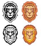 Stellen Sie von den Löweköpfen ein lizenzfreie abbildung