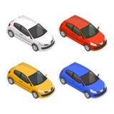 Stellen Sie von den mehrfarbigen Autos des Passagiers ein stock abbildung