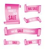 Stellen Sie von den rosa Verkaufsfahnen ein stock abbildung