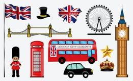 Stellen Sie von den Skylinen oder vom Stadtbild von London ein lizenzfreie abbildung