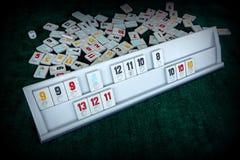 Stellen Sie von den St?cken eines Tischplattenspiels nannte Okey gespielt dachte die T?rkei ein stockfotografie