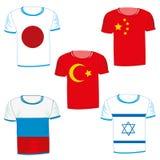 Stellen Sie von den T-Shirts mit Flagge ein Lizenzfreies Stockfoto