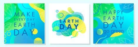 Stellen Sie von den Tag der Erde-Plakaten ein