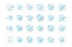 Stellen Sie von der blauen Flocke der Vektorschneeflocken der Schneesteigung ein vektor abbildung