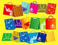 Stellen Sie von der Einkaufstaschesammlung, für E-Commerce ein r vektor abbildung