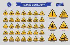 Stellen Sie von der Gefahrzeichensicherheit ein vektor abbildung