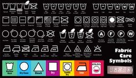 Stellen Sie von der Gewebesorgfalt oder von waschenden Symbolen oder von den Wäschereisymbolen ein lizenzfreie abbildung