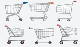 Stellen Sie von der verschiedenen lokalisierten Einkaufslaufkatze einfach zu ändern ein stock abbildung