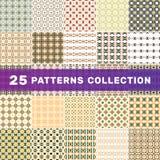 Stellen Sie von 25 geometrischen abstrakten Mustern ein lizenzfreies stockfoto