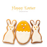 Stellen Sie von Ostern-Plätzchen in Form des Eies ein Lizenzfreies Stockfoto