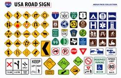 Stellen Sie von USA-Straßenschild ein r lizenzfreie abbildung