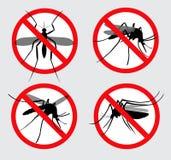 Stellen Sie von verbotenem Aedes aegypti oder chikungunya ein, oder von lokalisiertem Zika-Moskito vektor abbildung