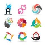 Stellen Sie 1 von verschiedenen Arten von Ikonen für Design ein Lizenzfreies Stockbild