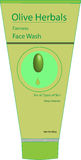 Stellen Sie waschendes Gesicht der Washington-Frau im Bad mit Schaumgummi gegenüber Lizenzfreie Abbildung