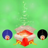 Stellen Sie Weihnachtsgeschenk ein Stockfotos