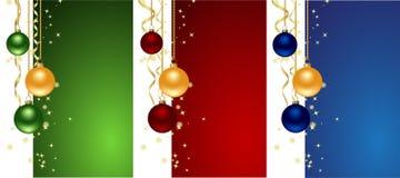 Stellen Sie Weihnachtshintergründe ein Lizenzfreie Stockbilder