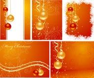 Stellen Sie Weihnachtshintergründe ein Lizenzfreies Stockfoto