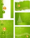 Stellen Sie Weihnachtshintergründe ein Lizenzfreie Stockfotos