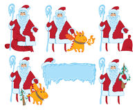 Stellen Sie Weihnachtsmann ein Lizenzfreie Abbildung