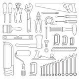 Stellen Sie Werkzeuge für Reparatur ein Lizenzfreie Stockbilder