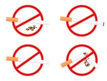 Stellen Sie Zeichen Nichtraucher ein Stockfotografie