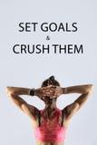Stellen Sie Ziele ein und zerquetschen Sie sie Stockfoto