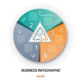 Stellen Sie zyklischen Vorgang, infographic 3 Positionen des Geschäfts grafisch dar Stockbilder