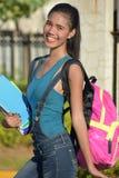 Stellend Universitair Filipina Female Student With Books stock foto