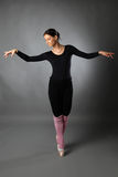 Stellende balletdanser stock afbeeldingen