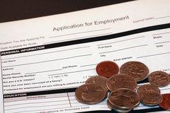 Stellengesuch für Beschäftigung Stockfoto