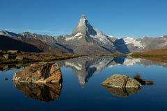 Stellisee and Matterhorn stock photos