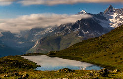 Stellissee Lake, Zermatt, Switzerland Royalty Free Stock Photography